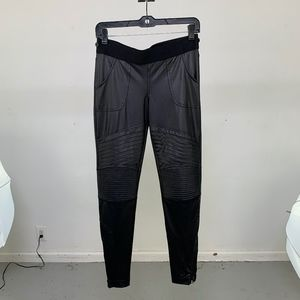 liquid leather like moto style Bebe leggings